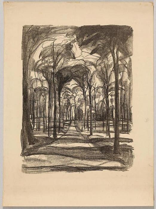 Edvard Munch-Woods by Wiesbaden-1922