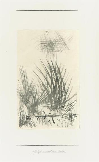 Paul Klee-Es Wachst Gras Daruber (There Is Grass Growing Over It)-1932