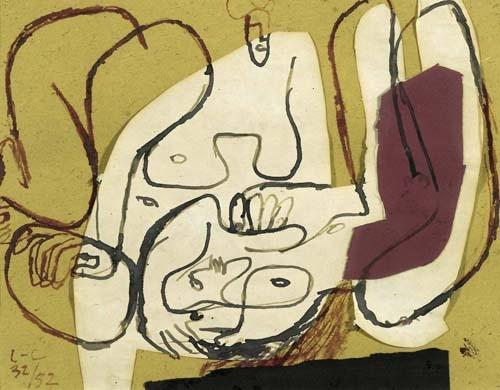 Le Corbusier-Komposition mit weiblichen Akten-1952
