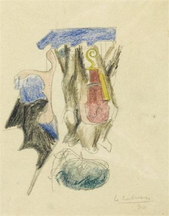 Le Corbusier-Violon, os et Saint-Sulpice-1930