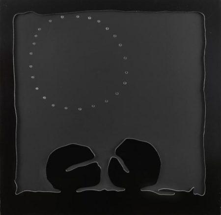 Lucio Fontana-Concetto Spaziale - Teatrino (nero)-1968