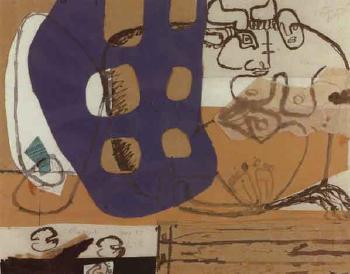 Le Corbusier-Komposition mit Stier und Frau-1955