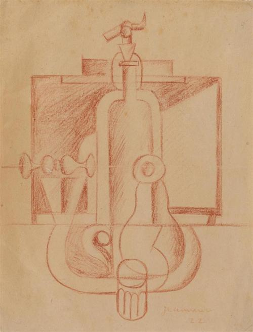 Le Corbusier-Stilleben mit Flaschen-1922