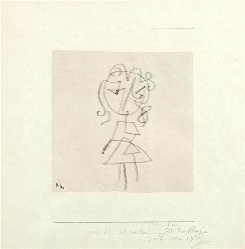 Paul Klee-Kleines Madchen (Small Girl)-1928