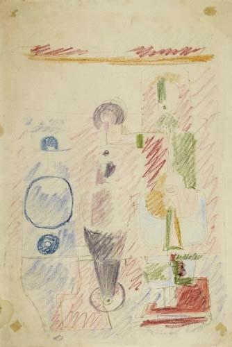 Le Corbusier-Kubistische Komposition-1928
