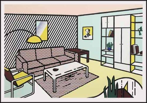 Roy Lichtenstein-Modern Room, from Interior Series-1990