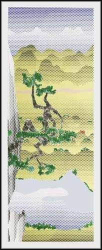 Roy Lichtenstein-Landscape with Poet-1996