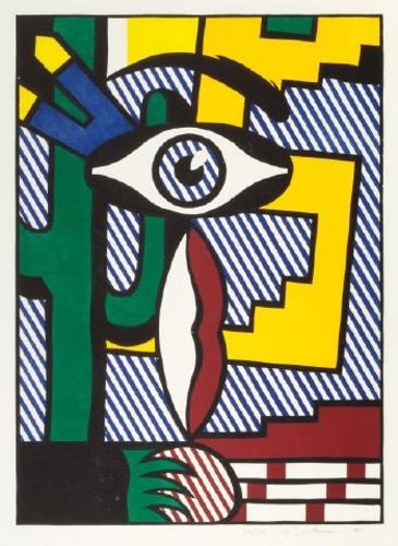 Roy Lichtenstein-American Indian Theme III-1980