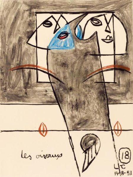 Le Corbusier-Les Oiseaux-1953