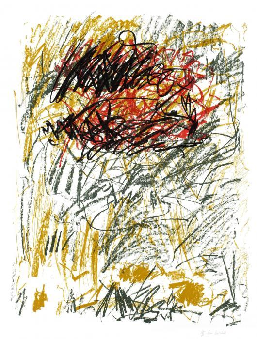 Joan Mitchell-Flower III (from Bedford Series)-1981