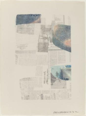 Robert Rauschenberg-Robert Rauschenberg - Untitled Press-1972