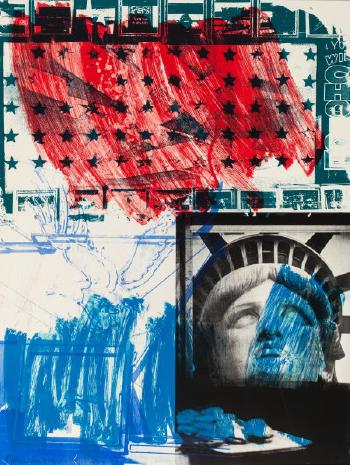 Robert Rauschenberg-Robert Rauschenberg - People for the American Way-1991
