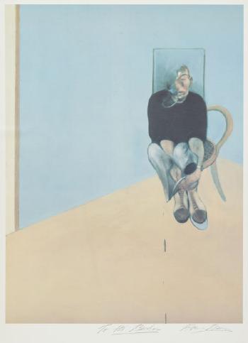 Francis Bacon-Study for Self-Portrait 1982-1984