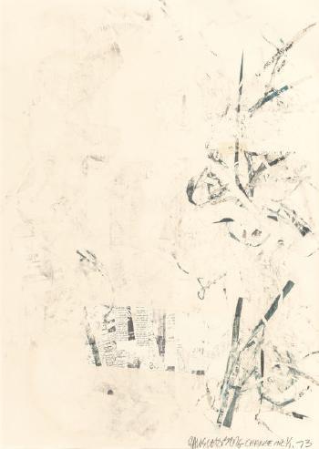 Robert Rauschenberg-Robert Rauschenberg - Noname (Elephant) (From The Portfolio For Meyer Shapiro)-1973