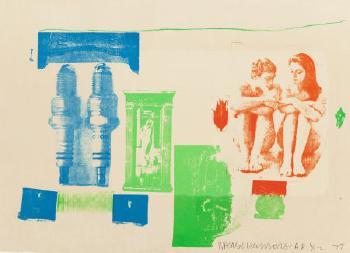 Robert Rauschenberg-Robert Rauschenberg - Romances (Myth) (From Romances Series)-1977