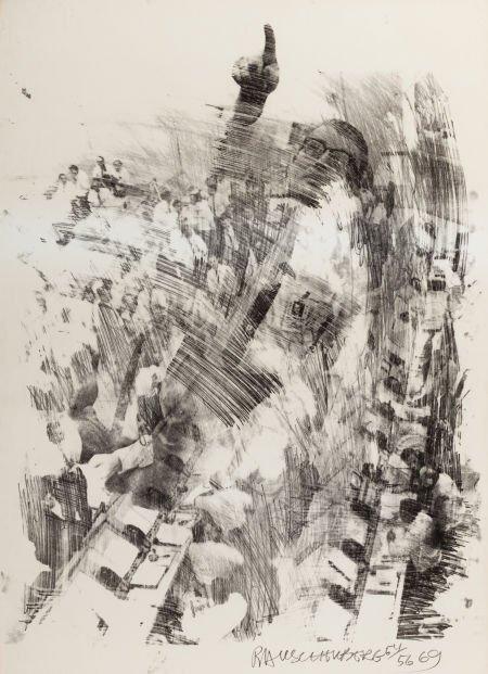 Robert Rauschenberg-Robert Rauschenberg - Horn and Sky Rite (from the Stoned Moon series)-1969