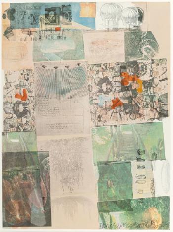 Robert Rauschenberg-Robert Rauschenberg - Deposit (From the Portfolio America: The Third Century)-1975