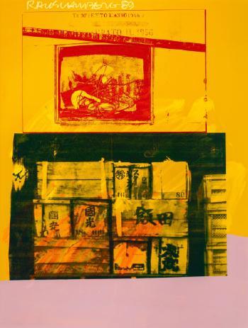 Robert Rauschenberg-Robert Rauschenberg - Story Crates (From The Urban Bourbon Series)-1989