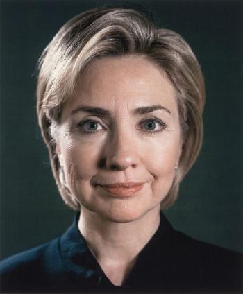 Chuck Close-Hillary (Portrait View)-2000