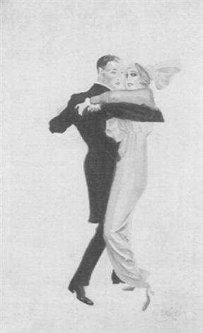 Robert Rauschenberg-Robert Rauschenberg - Dancing Couple (Tanzendes Paar)-