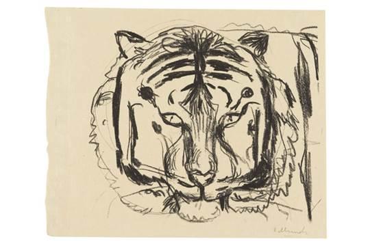 Edvard Munch-Tigerkopf II-1908