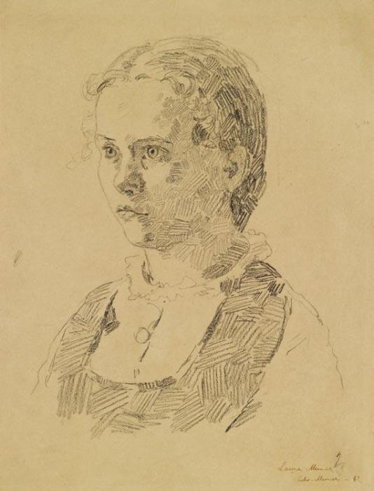 Edvard Munch-Portrat Laura Munch-1882