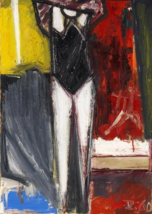 Gerhard Richter-Sich Ankleidende-1960