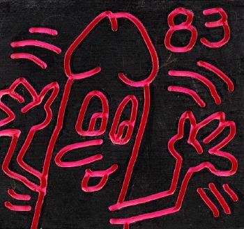 Keith Haring-Keith Haring - Untitled (Daisy Dick)-1983