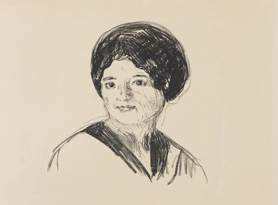 Edvard Munch-Junge Frau (Ung Kvinne)-1912