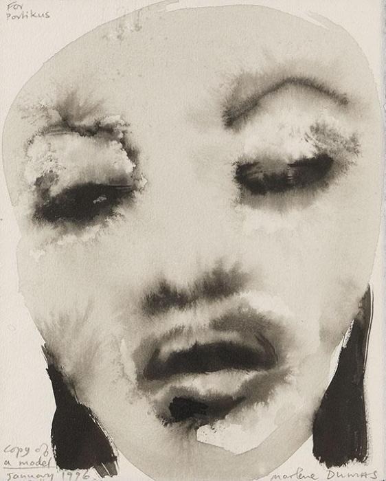 Marlene Dumas-Copy of a Model (Naomi Campbell)-1996