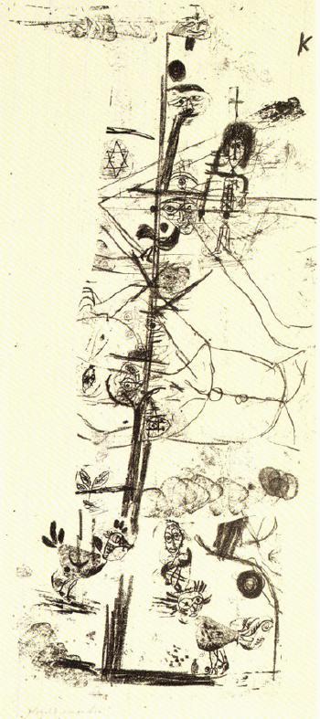 Paul Klee-Vogelkomodie (Aristophanische Komodie)-1918