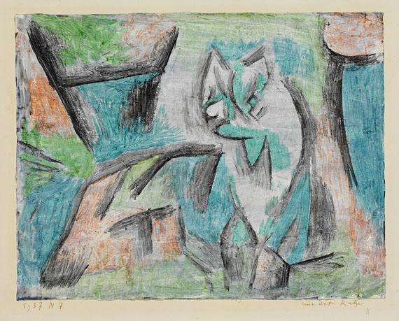 Paul Klee-Eine Art Katze (Abstract Cat)-1937