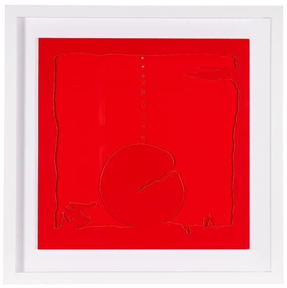 Lucio Fontana-Concetto spaziale - Teatrino (rosso)-1968