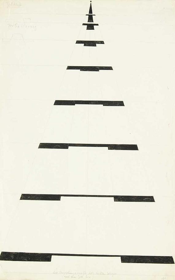 Paul Klee-Die Anziehungskraft Des Rechten Weges (The Attraction Of The Right Path)-1928