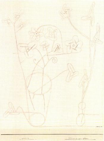 Paul Klee-Blumen In Zwei Glasern (Flowers In Two Glasses)-1926