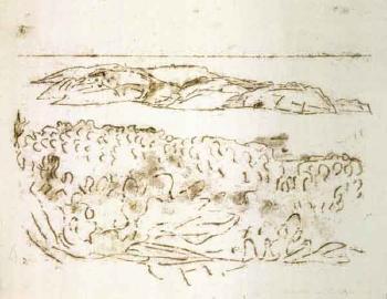 Paul Klee-Aussicht Von La Vigie (Tagebuch Port Cros: Blick Von La Vigie Nach Levant (Port Cros Diary: View From La Vigie Towards Levant))-1933