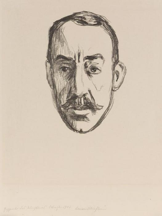 Edvard Munch-Henry Van De Velde (Woll 285 / Schiefler 246)-1906