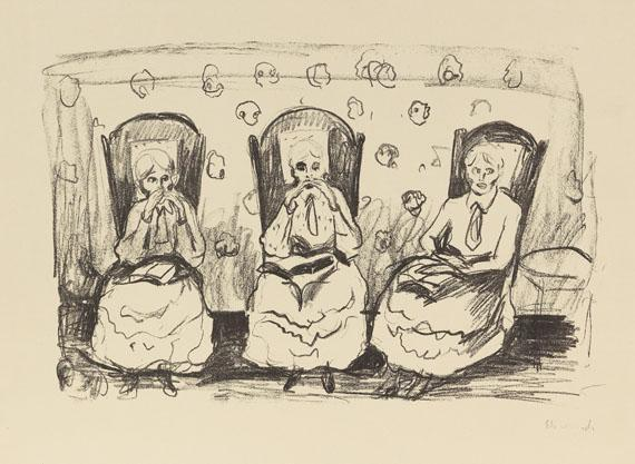 Edvard Munch-Drei Alte Damen / Tre Gamle Damer / Three Old Ladies-1922