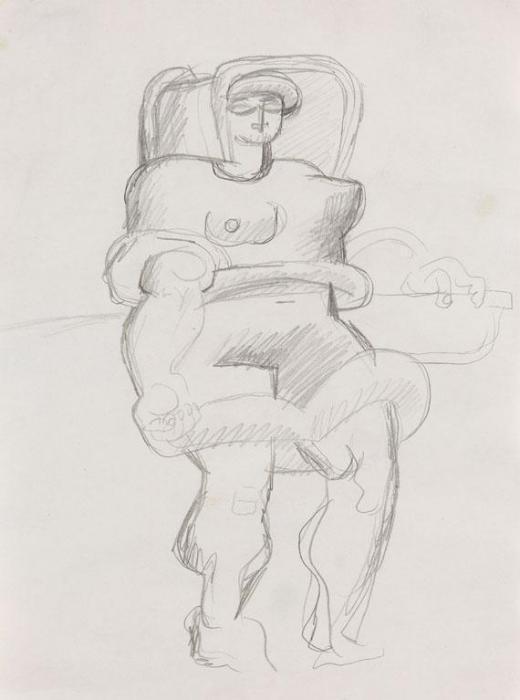 Le Corbusier-Etude pour Pecheuse-1928
