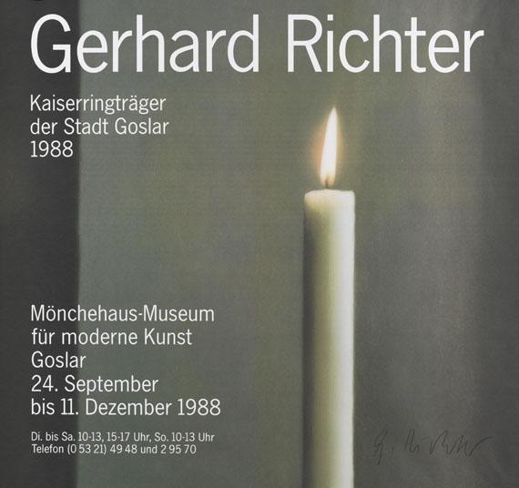 Gerhard Richter-Plakat Kerze (Candle)-1988