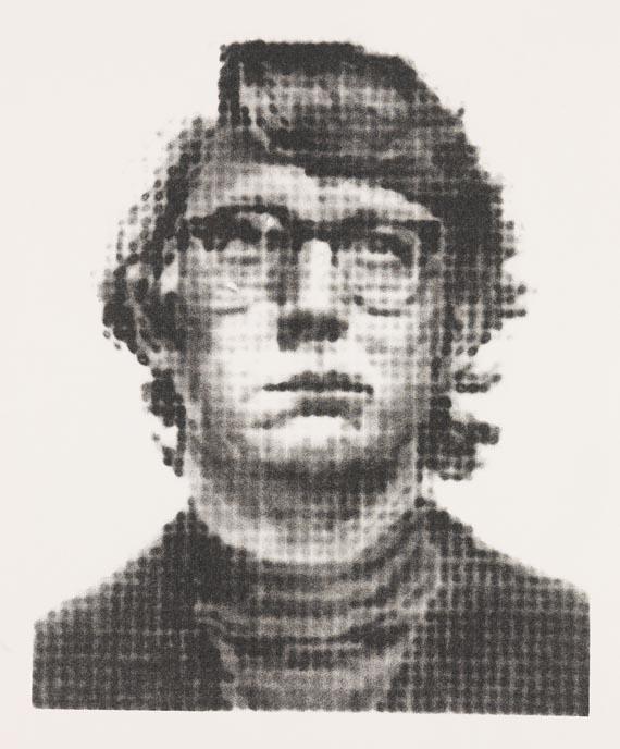 Chuck Close-Keith III - State I-1975