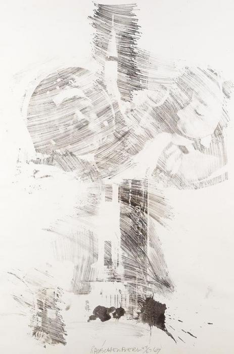 Robert Rauschenberg-Robert Rauschenberg - Moon Rose-1969