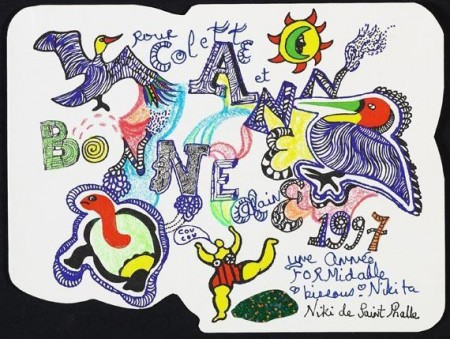 Niki de Saint Phalle-Bonne Annee 1997 (Gluckwunschkarte)-1997