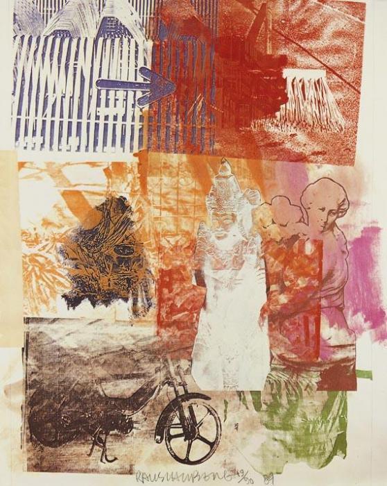 Robert Rauschenberg-Robert Rauschenberg - Tibetan Locks And Keys-1984