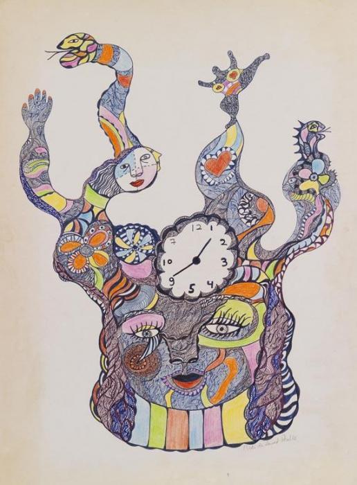 Niki de Saint Phalle-The Clock Face-1969