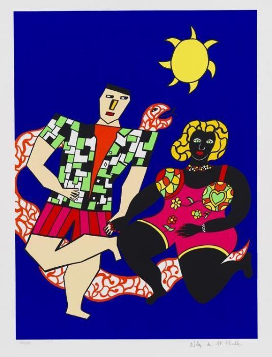 Niki de Saint Phalle-Les fiances de knokke, (Les amoureux), (Composition)-1985