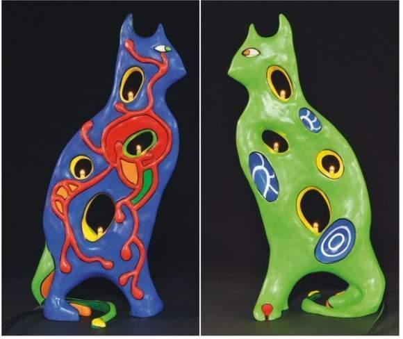 Niki de Saint Phalle-Lampe chat-1997