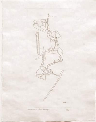 Marcel Duchamp-La Mariee (1st state) (Nu descendant l'escalier)-1965