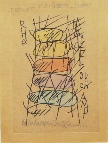 Marcel Duchamp-Raoul Hausmann-1968