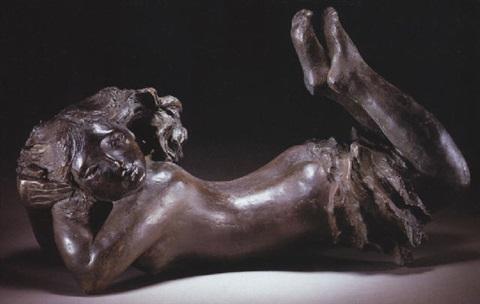 Lucio Fontana-Femme nue-